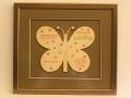 Houten vlinder geboortekaartje
