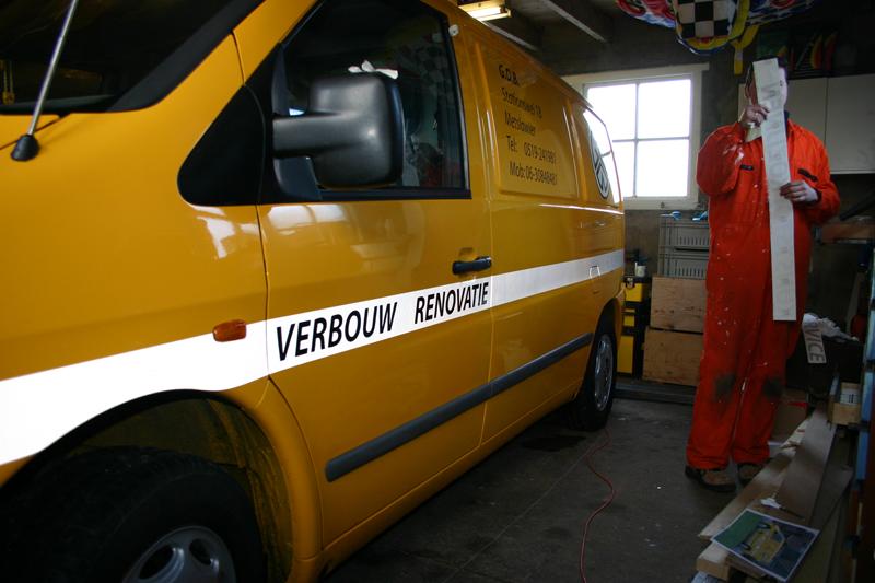 Gele mercedes Vito