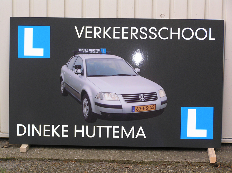 Reclamebord Dineke Huttema