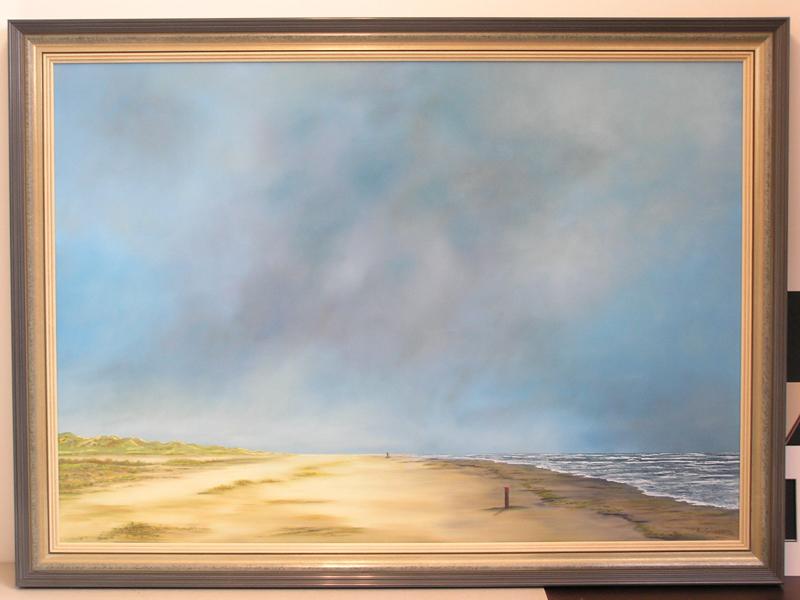 Strand en zee door Andries van Guldener