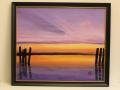 Zonsondergang op het wad door Annie Vanger