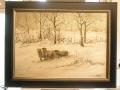 Schapen in winterlandschap door Hindrik
