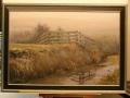 Landschap in de mist door Tjeerd Landman